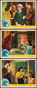 "Movie Posters:Romance, The Clock (MGM, 1945). Lobby Cards (3) (11"" X 14""). Romance.. ... (Total: 3 Items)"