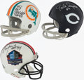 Football Collectibles:Helmets, Newsome, Sayers, & Warfield Signed Mini Helmet Lot of 3....
