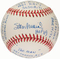 Autographs:Baseballs, Stan Musial Single Signed Stat Baseball with 20 Inscriptions, Limited Edition 0235/1000. ...