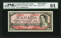 Canadian Currency, BC-36s $1000 1954 Devil's Face Specimen PMG Choice Uncirculated64.. ...