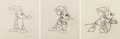 Animation Art:Production Drawing, Mickey's Good Deed Mickey Mouse as Santa Animation Drawing Sequence of 3 (Walt Disney, 1932).... (Total: 3 Items)