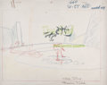 Animation Art:Production Drawing, War and Pieces Wile E. Coyote and Road Runner AnimationDrawing (Warner Brothers, 1964)....