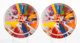 After Damien Hirst The Broad P1, set of 2, c. 2009 Bone china 10-1/2 inches (26.7 cm) diameter Stamped to the rever... (...