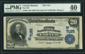 National Bank Notes:Kansas, Larned, KS - $20 1902 Plain Back Fr. 650 First NB Ch. # (W)7125 PMG Extremely Fine 40.. ...
