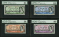 Canadian Currency, Bank of Canada 1954 Devil's Face $1-$10 Denomination Set.. ...(Total: 4 notes)