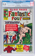 Silver Age (1956-1969):Superhero, Fantastic Four Annual #1 (Marvel, 1963) CGC VF/NM 9.0 Off-whitepages....
