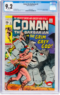 Bronze Age (1970-1979):Adventure, Conan the Barbarian #3 (Marvel, 1971) CGC NM- 9.2 White pages....