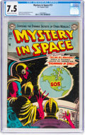 Golden Age (1938-1955):Science Fiction, Mystery in Space #13 (DC, 1953) CGC VF- 7.5 Off-white to white pages....