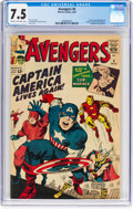 Silver Age (1956-1969):Superhero, The Avengers #4 (Marvel, 1964) CGC VF- 7.5 Cream to off-whitepages....