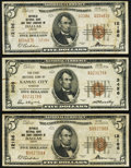 National Bank Notes:Missouri, Kansas City, MO - $5 1929 Ty. 1 The First NB Ch. # 3456;. Dallas,TX - $5 1929 Ty. 1 Republic NB & TC Ch. # 1218... (Total: 3notes)