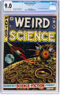 Weird Science #11 (EC, 1952) CGC VF/NM 9.0 Off-white to white pages