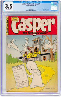Casper the Friendly Ghost #1 (St. John, 1949) CGC VG- 3.5 Off-white pages
