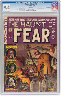Haunt of Fear #11 Gaines File Pedigree 5/12 (EC, 1952) CGC NM 9.4 White pages