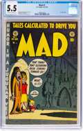 Golden Age (1938-1955):Humor, MAD #1 (EC, 1952) CGC FN- 5.5 Off-white to white pages....