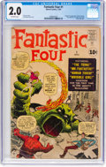 Silver Age (1956-1969):Superhero, Fantastic Four #1 (Marvel, 1961) CGC GD 2.0 Off-white pages....