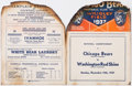 Football Collectibles:Programs, 1937 NFL Championship Game Program - Bears vs. Redskins....