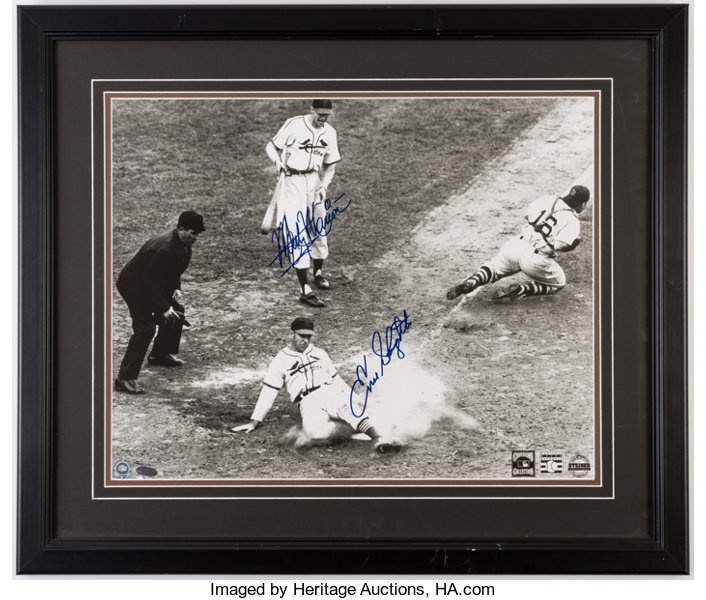8d701b29b9b Slaughter   Marion Dual-Signed Framed Photograph.... Autographs ...
