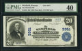 National Bank Notes:Kansas, Winfield, KS - $20 1902 Plain Back Fr. 650 The Winfield NB Ch. # 3351 PMG Extremely Fine 40.. ...