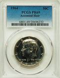 1964 50C Accented Hair PR69 PCGS. PCGS Population: (54/0). NGC Census: (281/0). CDN: $950 Whsle. Bid for problem-free NG...