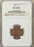 Indian Cents: , 1893 1C MS63 Red and Brown NGC. NGC Census: (115/290). PCGS Population: (180/391). CDN: $115 Whsle. Bid for problem-free NG...