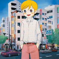 Mr. (Japanese, b.1969) The Boy Who Came to Ikebukuro, 2006 Offset lithograph in colors on smooth wov
