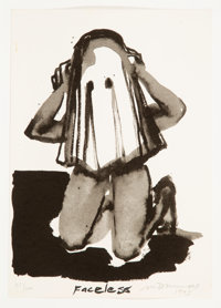Marlene Dumas (South African, b. 1953) Faceless, 1993 Screenprint on paper 11-1/2 x 8 inches (29