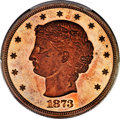 Patterns, 1873 T$1 Trade Dollar, Judd-1283, Pollock-1425, R.7, PR66 Red and Brown PCGS....