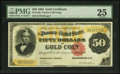 Large Size:Gold Certificates, Fr. 1196 $50 1882 Gold Certificate PMG Very Fine 25.. ...