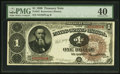 Fr. 347 $1 1890 Treasury Note PMG Extremely Fine 40