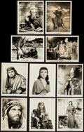 "Movie Posters:Drama, The Ten Commandments (Paramount, 1956). Photos (17) &Behind-the-scenes Photos (2) (Approx. 8"" X 10.25"" & 8"" X 10"").Drama.... (Total: 19 Items)"