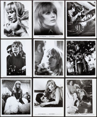 """The Girl on a Motorcycle (Warner Brothers, 1968). Photos (21) & Behind-The-Scenes Photos (3) (8"""" X 10""""). E..."""