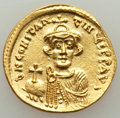 Ancients:Byzantine, Ancients: Constans II Pogonatus (AD 641-668). AV solidus (20mm,4.40 gm, 7h). MS, die shift....