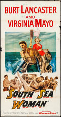 "Movie Posters:Adventure, South Sea Woman (Warner Brothers, 1953). Three Sheet (41"" X 78"").Adventure.. ..."
