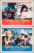 """Movie Posters:Adventure, Queen of the Pirates (Columbia, 1961). Half Sheets (2) (22"""" X 28"""")Two Styles. Adventure.. ... (Total: 2 Items)"""
