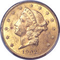Liberty Double Eagles, 1902 $20 MS62 PCGS Secure. CAC....