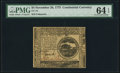 Colonial Notes:Continental Congress Issues, Continental Currency November 29, 1775 $4 PMG Choice Uncirculated64 EPQ.. ...