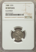 Three Cent Nickels, 1888 3CN -- Cleaned -- NGC Details. XF. NGC Census: (17/298). PCGS Population: (42/530). CDN: $80 Whsle. Bid for problem-fr...
