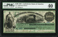 Confederate Notes:1861 Issues, T3 $100 1861 PF-1 Cr. 3 PMG Extremely Fine 40.. ...