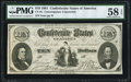 Confederate Notes:1861 Issues, CT-25168 $10 1861 Contemporary Counterfeit. PMG Choice About Unc 58EPQ.. ...
