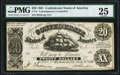 Confederate Notes:1861 Issues, CT-9/29B $20 1861 Contemporary Counterfeit. PMG Very Fine 25.. ...