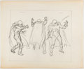 Animation Art:Concept Art, John Buscema Spider-Man Mysterio Animation Concept ArtSketches Original Art (Marvel Productions, 1981)....
