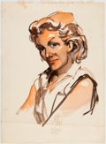 Original Comic Art:Paintings, Jack Davis Portrait of Rose Keller Original Art (c.1950s-60s)....