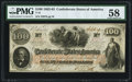 Confederate Notes:1862 Issues, T41 $100 1862 PF-17 Cr. 318 PMG Choice About Uncirculated 58.. ...