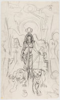 Original Comic Art:Miscellaneous, Frank Brunner - Egyptian Female Preliminary Artwork Original Art(c. 1980-90s)....