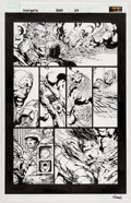 Original Comic Art:Panel Pages, David Finch and Danny Miki Avengers #500 Story Page 29Original Art (Marvel, 2004)....