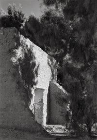 Laura Gilpin (American, 1891-1979) Old Adobe and Salt Cedars, 1946 Gelatin silver, printed later
