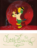 Animation Art:Production Cel, Saludos Amigos José Carioca Production Cel Courvoisier Setup with Walt Disney Signature (Walt Disney, 1942)....