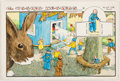 Original Comic Art:Miscellaneous, William Donahey The Teenie Weenies Sunday Comic StripHand-Painted Color Production Art dated 11-9-69 (News Syndic...