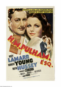 """Movie Posters:Drama, H.M. Pulham, Esq. (MGM, 1941) One Sheet (27"""" X 41""""). This is a vintage, theater used poster for this drama that was directed..."""