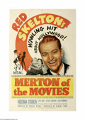 "Movie Posters:Comedy, Merton of the Movies (MGM, 1947) One Sheet (27"" X 41""). This is a vintage, theater used poster for this comedy romance that ..."